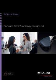 ReSound Alera audiology background - GN ReSound