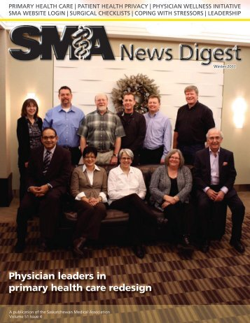 Physician leaders in primary health care redesign - Saskatchewan ...