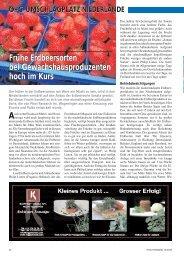 Frühe Erdbeersorten bei Gewächshausproduzenten hoch im Kurs ...