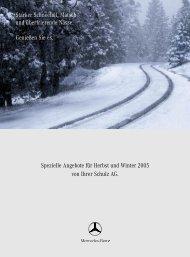 Spezielle Angebote für Herbst und Winter 2005 von Ihrer Schulz AG ...