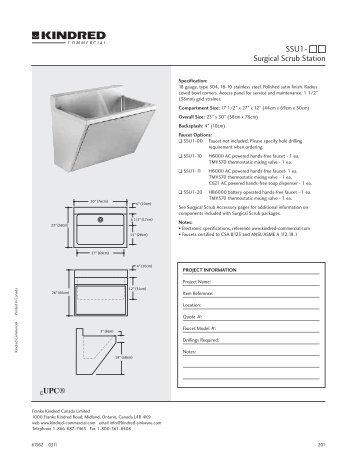 SSU1- Surgical Scrub Station - Franke