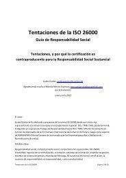 Tentaciones de la ISO 26000 - ISO 26000, an estimation