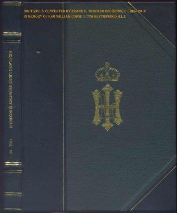 HLI Chronicle 1907 - The Royal Highland Fusiliers