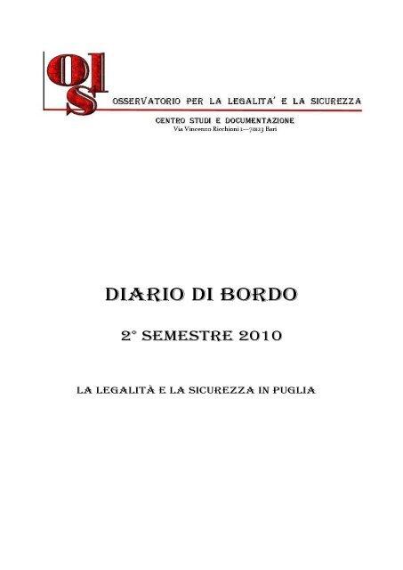 Diario Di Bordo Comune Di Capurso