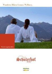Preise 2012 - Hotel Schulerhof