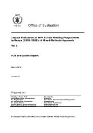 Impact Evaluation of WFP School Feeding Programmes in Kenya