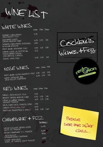 Wine liSt - Liberation Group