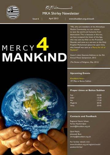 newsletter Shirley April 13.indd - Majlis Khuddamul Ahmadiyya UK ...