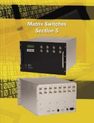 Matrix Switches Section - JFW Industries