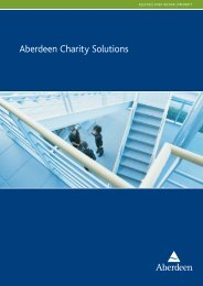 Aberdeen Charity Solutions - Aberdeen Asset Management