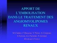 apport de l'embolisation dans le traitement des angiomyolipomes ...
