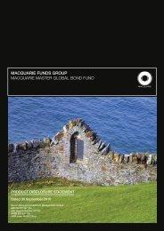 macquarie funds group macquarie master global bond fund