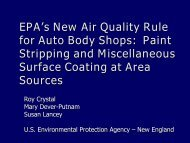 EPA Powerpoint Presentation - New Air Quality Rule for Auto Body ...