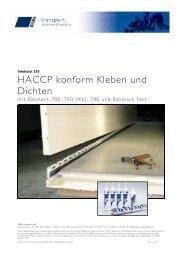 HACCP konform Kleben und Dichten - Saba