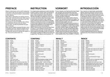 PREFACE INSTRUCTION VORWORT INTRODUCCIÌN