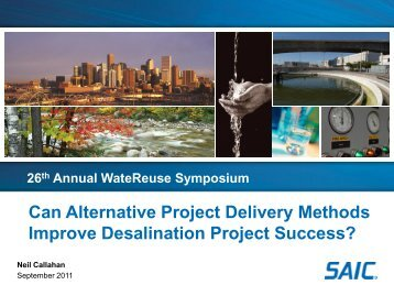 Can Alternative Project Delivery Methods Improve Desalination ...