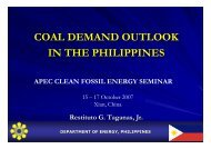 Coal Demand Outlook in the Philippines - Expert Group on Clean ...