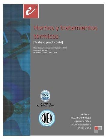 Hornos y tratamientos térmicos - Instituto Balseiro - CNEA