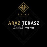 Snack Terasz menülap - Continental Hotel Budapest**** Superior