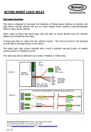RCT485 SMART LOGIC RELAY - Ring Automotive