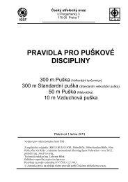 PRAVIDLA PRO PUŠKOVÉ DISCIPLINY - Český střelecký svaz