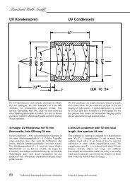 UV Kondensoren UV Condensers - bernhard halle nachfolger gmbh