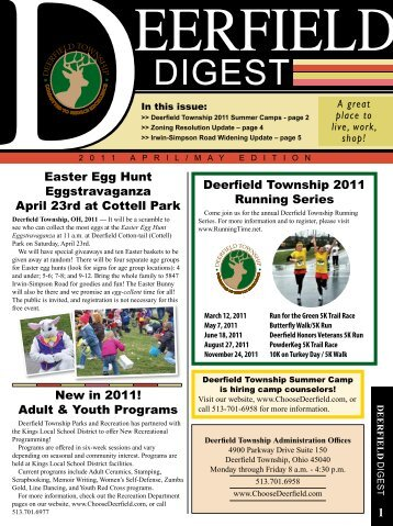 April/May Edition - Deerfield Township, Ohio