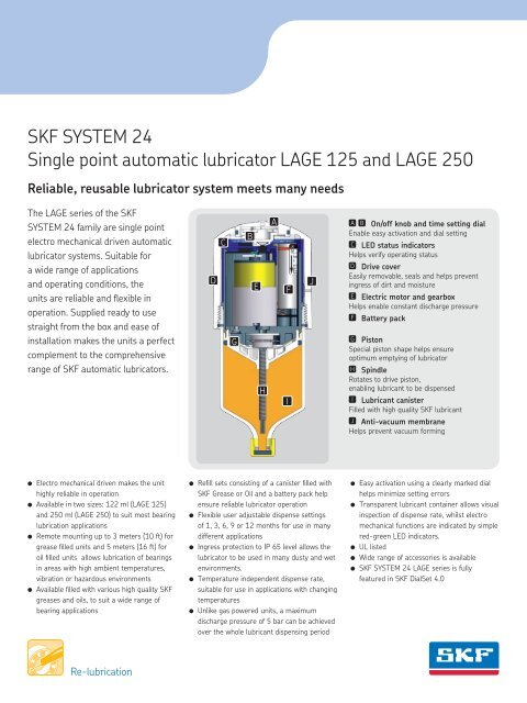 SKF SYSTEM 24 Single point automatic lubricator