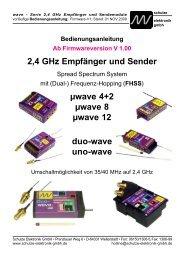 2,4 GHz Empfänger und Sender µwave 4+2 µwave 8 µwave 12 duo ...