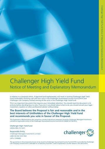 Challenger High Yield Fund