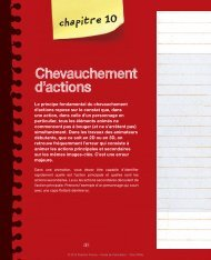 chapitre 10 Chevauchement d'actions - Pearson
