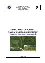 studija o utjecaju na okoliš - Federalno ministarstvo okoliša i turizma