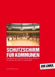 SCHUTZSCHIRM FÜR KOMMUNEN - Die Linke NRW