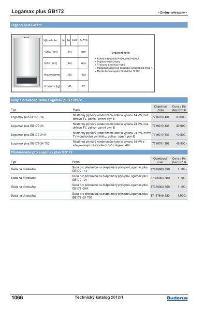 Logamax plus GB172 1055 - Buderus