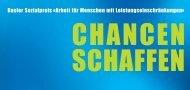 Basler Sozialpreis - Amt für Wirtschaft und Arbeit - Kanton Basel-Stadt
