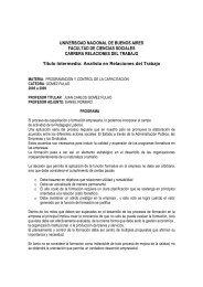 Prof. Juan Carlos Gomez Fulao - Carrera de Relaciones del Trabajo ...