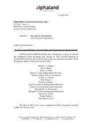 2 April 2013 PHILIPPINE STOCK EXCHANGE, INC. 3rd Floor ...