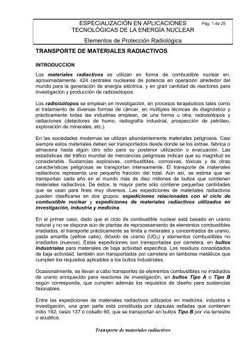 ESPECIALIZACIÓN EN APLICACIONES TECNOLÓGICAS ... - CNEA