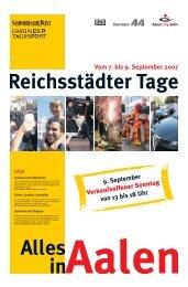Reichsstädter Tage - Schwäbische Post