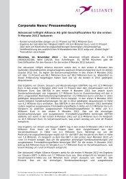 Corporate News/Pressemeldung - Advanced Inflight Alliance AG
