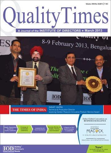 qt-march-2013 - Institute Of Directors