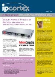 load balancer newsletter - march 08 - IPCortex