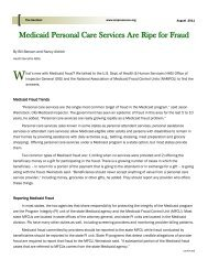 Medicaid Personal Care Services Are Ripe for Fraud