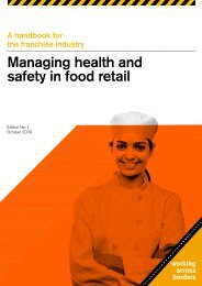 Managing health and safety in food retail