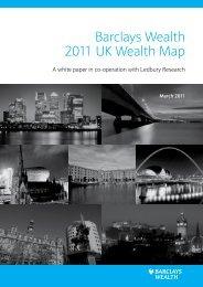 Barclays Wealth 2011 UK Wealth Map - Arts & Business Scotland