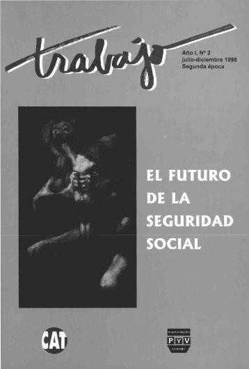 Revista Trabajo Año 1, No. 2. 1998. El futuro de la Seguridad Social