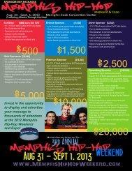 Memphis Hip-Hop Weekend & Expo Sponsorship Packages