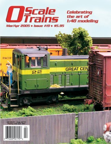US $5.95 • Can $7.95 - O Scale Trains Magazine Online