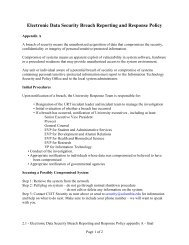 Electronic Data Security Breach Reporting and Response Policy