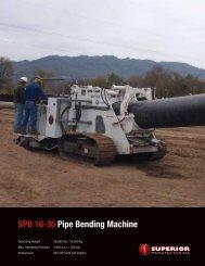 SPB 16-30 Pipe Bending machine - Worldwide Machinery